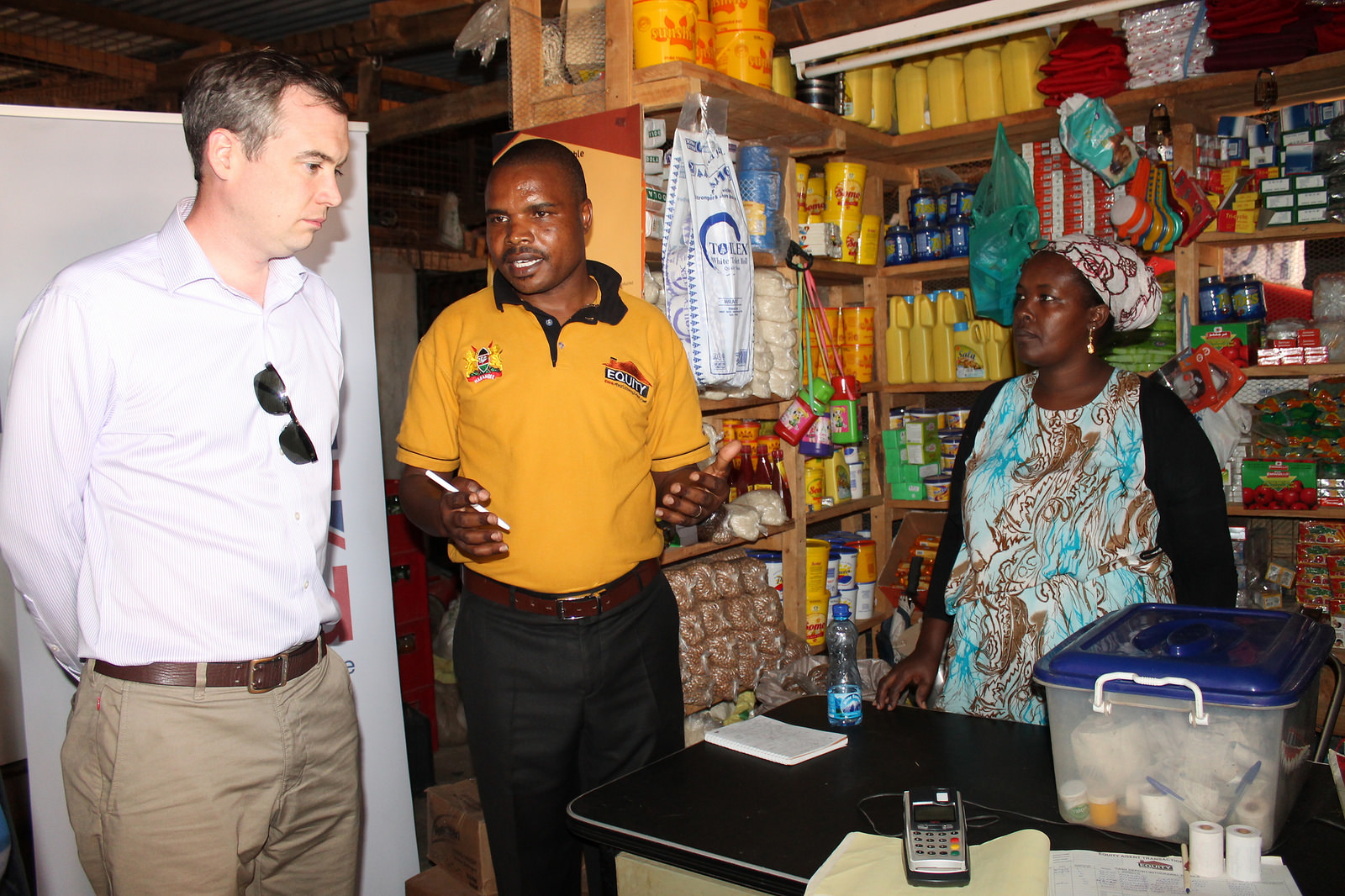 Visiting a beneficiary that started a shop using HSNP cash transfers in Korr, Marsabit